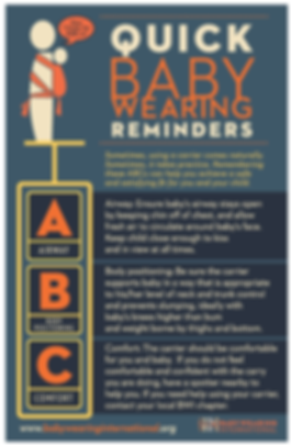 Babywearing Safety Reminders