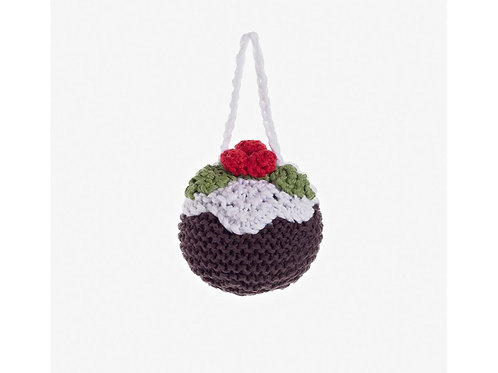 Pudding - Knitted Christmas Decoration - Pebble Toys
