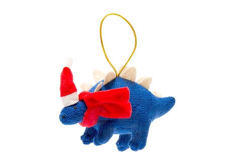 Stegosaurus - Knitted Christmas Decoration - Pebble Toys