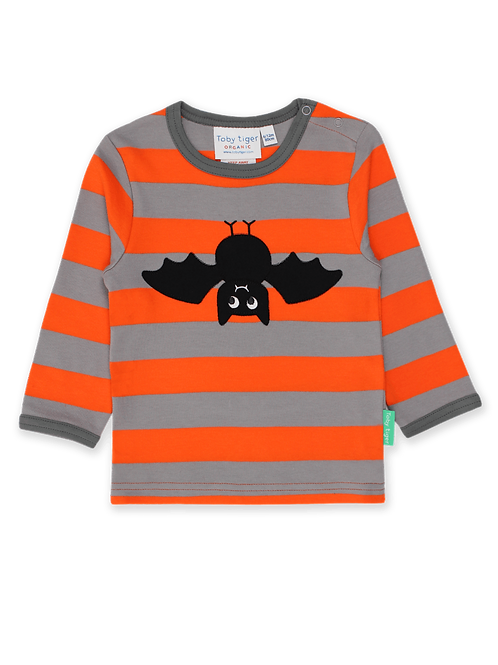 Bat Applique LS T-Shirt - Toby Tiger