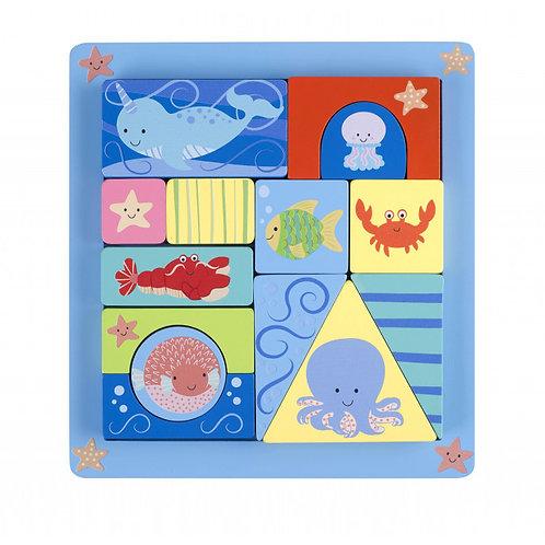 Sealife Block Puzzle Tray