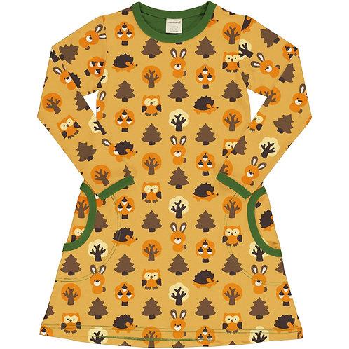 Dress LS - YELLOW FOREST - Maxomorra