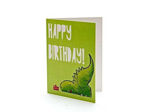 T-Rex Cake Birthday Card - Best Years