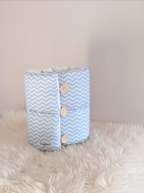 Blue Chevron - Snuggleband Feeding Pillow