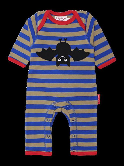 Bat Applique Sleepsuit - Toby Tiger