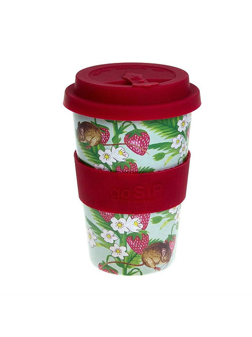 Strawberries & Field Mouse - GoSIP 14oz Rice Husk Coffee Cup