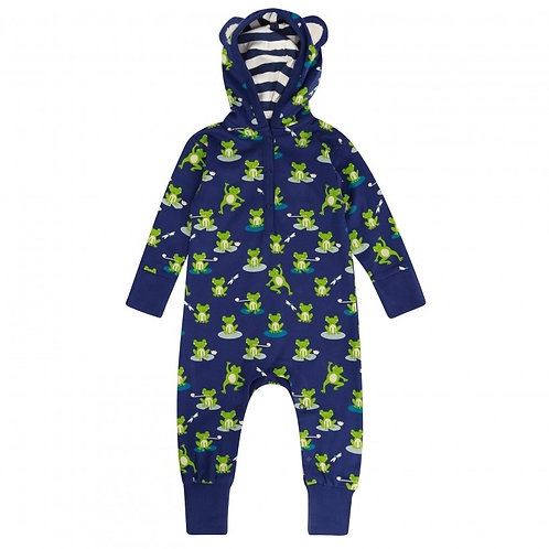 Hooded Playsuit - FROG - Piccalilly