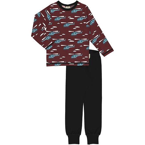 Pyjama Set LS - HELICOPTER SKY - Meyadey