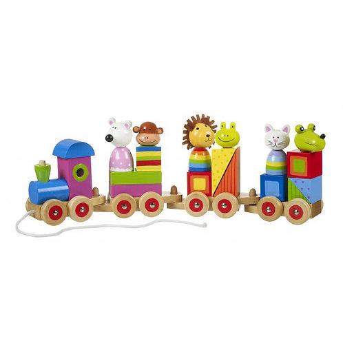 ANIMAL PUZZLE TRAIN - Orange Tree Toys