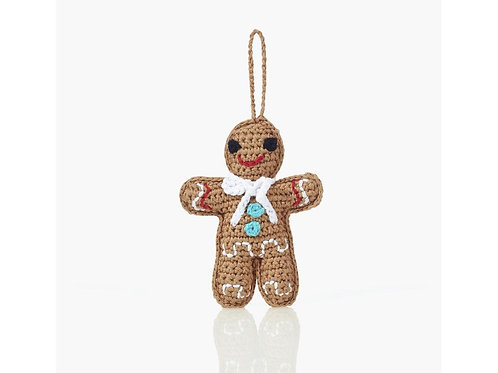 Gingerbread - Knitted Christmas Decoration - Pebble Toys