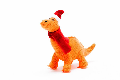 Diplodocus - Knitted Christmas Decoration - Pebble Toys