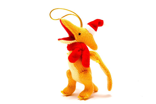 Pterodactyl - Knitted Christmas Decoration - Pebble Toys