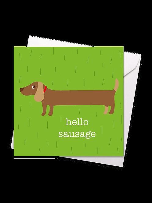 Hello Sausage Card - Toby Tiger