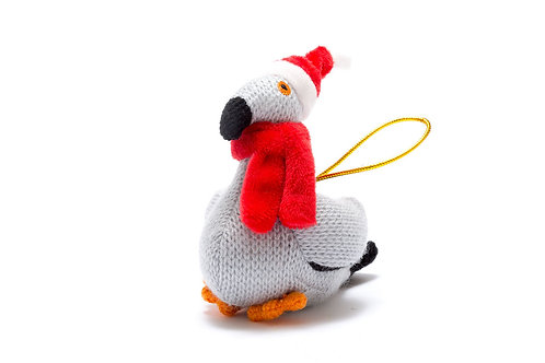 Pigeon - Knitted Christmas Decoration - Pebble Toys