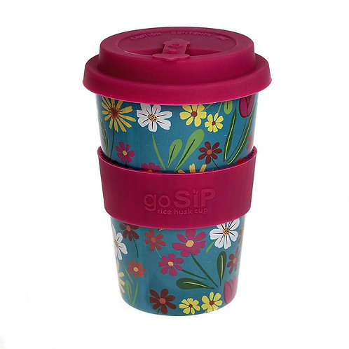 Floral - GoSIP 14oz Rice Husk Coffee Cup