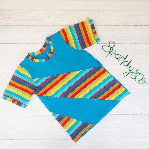 Classic T-shirt - SCRAMBLED RAINBOW - Sparkly & Co