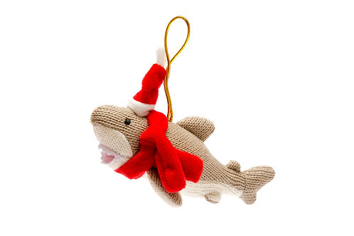 Shark - Knitted Christmas Decoration - Pebble Toys