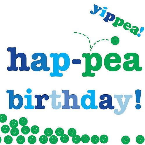 Hap-pea Birthday Card - Toby Tiger