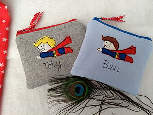 Superhero purse pencil case
