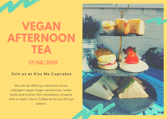 Kiss Me Cupcakes - Vegan Afternoon Tea