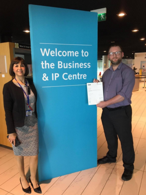 MBL Academy Graduate - Phil Saunders with Yvonne Baker, Library Services Manager