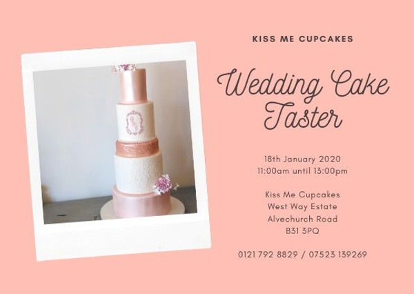 Kiss Me Cupcakes - Wedding Cake Taster -