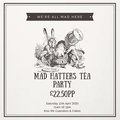 Kiss Me Cupcakes - Mad Hatters Tea Party