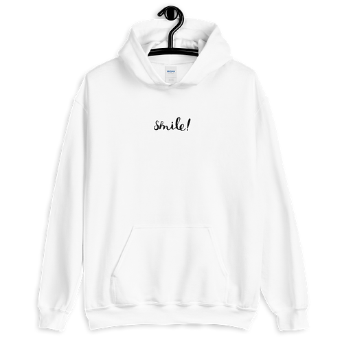 embroidered smile! hoodie
