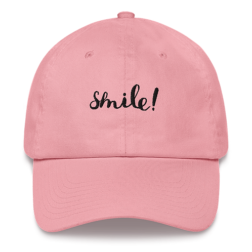 embroidered smile! dad hat