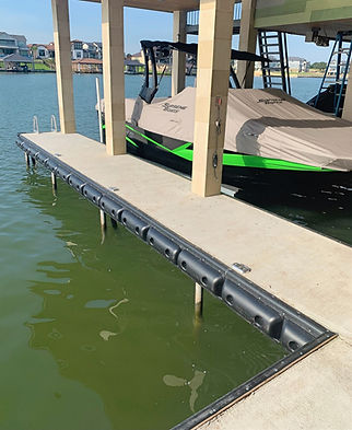 dock bumpers edging boat lift
