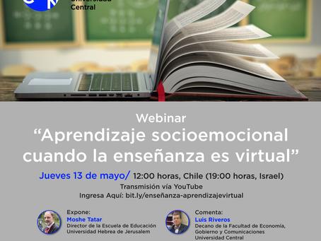 """webinar Profesor Moshe Tatar: """"Aprendizaje socioemocional cuando la enseñanza es virtual"""""""