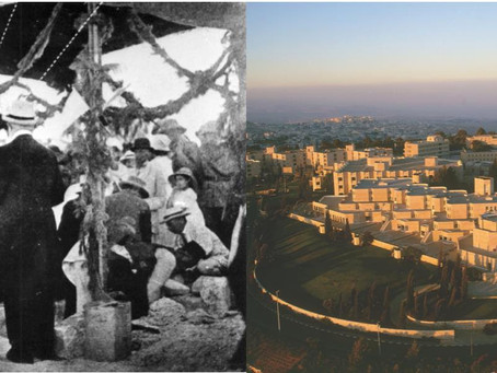 A 103 años de la colocación de las piedras fundamentales de la Universidad Hebrea, en Jerusalem