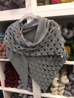 Truly extraordinary Open Waters Shawl knit in a baby yak and silk yarn