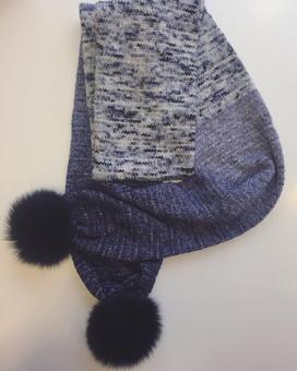 Gorgeous Knitted Scarf in Little Bean Loves Yarn in Sparkle Sock and La Fee Fil Gradient Fingering Yarn