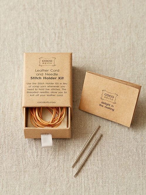 Cocoknits - Leather Cord and Needle Stitch Holder Kit
