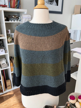Super Simple Summer Sweater looks sensational knit in Myak's Medium