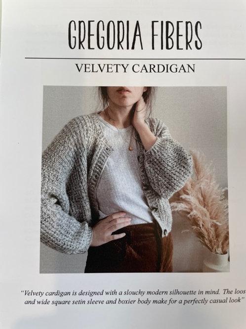 Gregoria Fibers - Velvety Cardigan