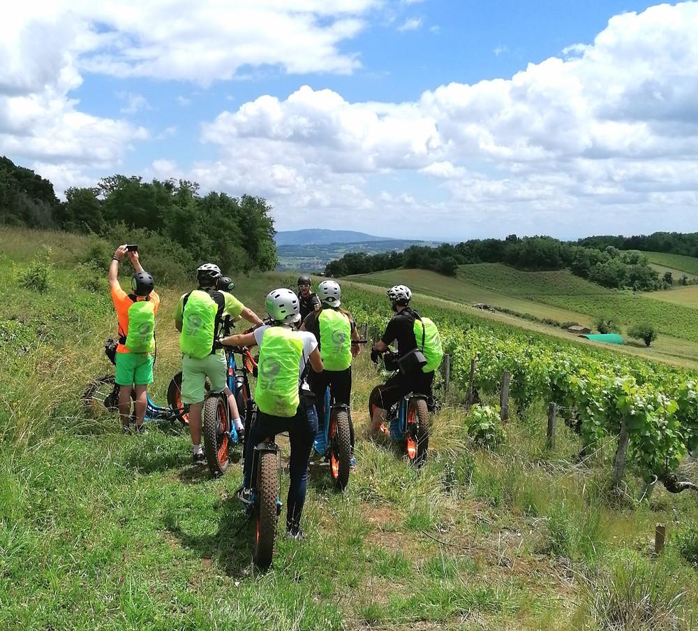 escape ride dans les vignes