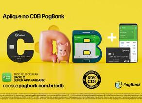 PagSeguro PagBank lança nova campanha do CDB PagBank, que rende 170% do CDI, o dobro da poupança