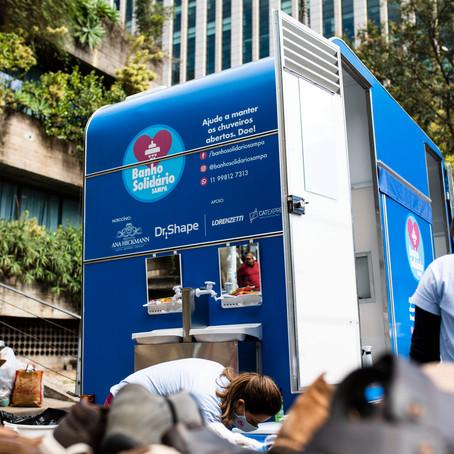 Banho Solidário oferece higiene para pessoas em situação de rua na região central de São Paulo
