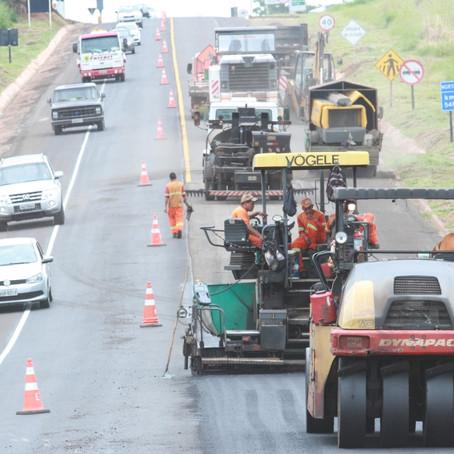 CCR MSVia informa sobre locais em obras pela BR 163/MS