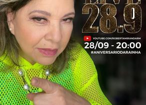 Roberta Miranda comemora aniversário nesta segunda-feira (28/09) com live especial para os fãs