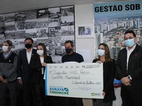 Soraya Thronicke faz entrega de emenda de R$ 200 mil à Guarda Municipal de Campo Grande
