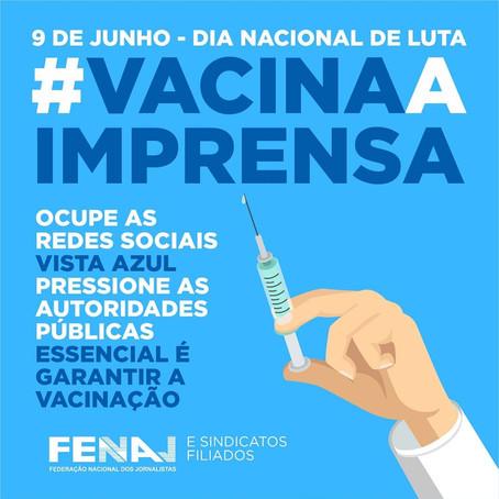 Fenaj realiza Dia Nacional de Luta para Vacinação dos Jornalistas