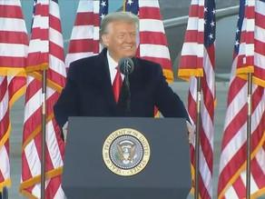 Donald Trump dá seu último discurso em Washington DC
