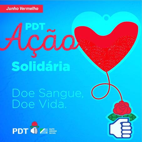 "PDT MS promove dia D da campanha ""Doe Sangue! Doe Vida!"""