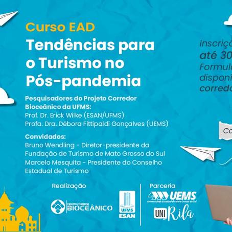 Inscrições para Curso EAD sobre tendências para o turismo pós-pandemia podem ser feitas até dia 30