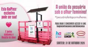 """Campanha """"O Agro Contra o Câncer"""" sorteia balança inteligente cor de rosa"""