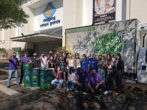 Mesa Brasil recebe mais de 5 toneladas de alimentos não perecíveis do Shopping Campo Grande