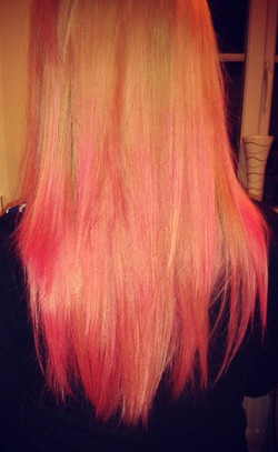 Blonde With Pink Dip Dye